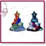 Sublimación revestida de cerámica blanca ornamento de árbol para regalos de Navidad