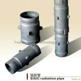 Tubos refractarios de la radiación del carburo de silicio