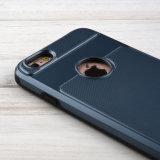 Armadura híbrida de la capa dual dura de la cubierta [textura aplicada con brocha del metal] [Anti-Rasguñar] [protección del impacto] para el iPhone 6s (4.7 pulgadas) de Apple