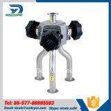 Válvula de diafragma manual sanitária de três maneiras do aço inoxidável (DY-V134)