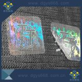 Escritura de la etiqueta transparente del holograma de la alta calidad