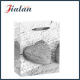 128GSM Art Paper em forma de coração saco de papel de presente de compras de pedra