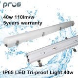 40W LED Tri Ampola, lâmpada Tri-Proof LED de 1200mm, IP65 LED Tri-Proof Lighting