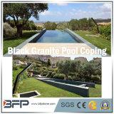 Raggruppamento naturale nero del granito che pavimenta mattonelle per la piscina/raggruppamento Surrouding