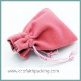贅沢なビロード袋のビロードのギフト袋のピンクカラー