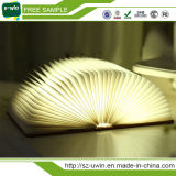 Luz decorativa plegable del libro del LED