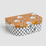 Maleta de papel de múltiples funciones del rectángulo de almacenaje del juguete de la maleta de la cartulina del papel de imprenta