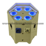 LED con pilas sin hilos Uplights 6X12W RGBWA+UV 6 in-1