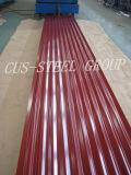 Hoja de acero de la azotea del color/hoja prepintada del material para techos del metal