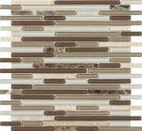 8mm Glas-Mosaik-Fliese, Wand-Mosaik für Badezimmer-Küche