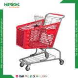 Carros de compras del supermercado del almacén de tiendas de comestibles del alambre de acero del departamento de tienda de comestibles del metal