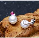 Monili stabiliti di cerimonia nuziale della perla naturale del regalo del tasto stabilito del AAA 9-10mm e della perla d'acqua dolce di goccia