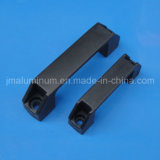 T Slot Plastic Door Knob Handle per Aluminum Profile L=90mm Black Color
