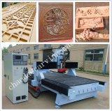 Porta de madeira do preço barato que faz a CNC do eixo da estaca do router do CNC/9kw Italy Hsd a máquina de estaca de madeira