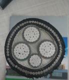 Câble électrique en aluminium d'armure de pouvoir de fil de PVC