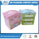 Caixa de presente de papel rígida da embalagem da forma do coração do cartão para o cosmético ou o chá