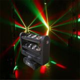 8*10W de LEIDENE Straal die van de Spin het HoofdLicht van DJ van de Disco van de Club bewegen