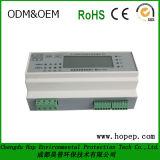 三相四線式DINのリアルによって取付けられるモジュラー電気のメートル、デジタル表示装置のメートル