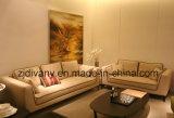 Sofá de madera de la tela del sofá del hogar moderno italiano de los muebles (D-68)
