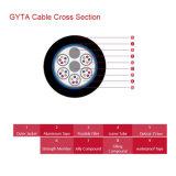 Cable óptico al aire libre trenzado capa longitudinal de aluminio GYTA de fibra