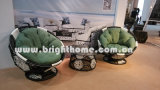 フットボールの回転イスBp8004のソファーの屋外の柳細工の家具