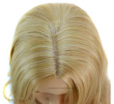 Америка и Европ хлопают золотистые волнистые парики курчавых волос