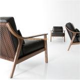 (SD-2008)現代ホテルの居間の家具の木の余暇の革張りのいす