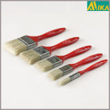 3PCS Red Plastic Handle White Bristle Paint Brush Set