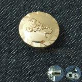 Кнопка кнопки металла золота вычуры нестандартной конструкции