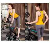 WomenのためのOEM Service Seamless Ribbed Racerback Sport Tank Top