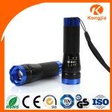 Helle LED Taschenlampen-Aluminiumfackel-Taschenlampe des Winkel-bewegliche Fahrrad-Licht-ultra