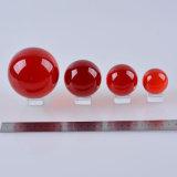 赤いカラークリスタルグラスの着色されたクリスタル・ボール40mm、50mm、60mm、