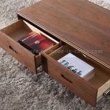 Mesa de centro de madeira da madeira das gavetas do projeto novo superior moderno do MDF da sala de visitas