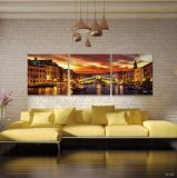 Grosse peinture à l'huile décorative fixée au mur de femme