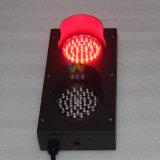 Indicatore luminoso laminato a freddo verde rosso personalizzato del segnale stradale del piatto di 100mm