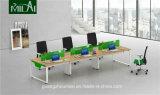 金属の足を搭載する好ましい価格の倍の側面のオフィスワークステーションオフィス用家具