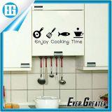 Autoadesivo smontabile dell'utensile di cottura della decalcomania del vinile felice della cucina