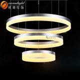 Hölzernes angestrichenes Aluminium + Acryl kreist Hotel-Hall-Leuchter-Beleuchtung ein