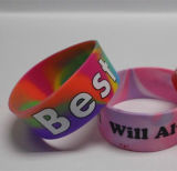 Bracelet Infilled promotionnel de silicones de logo de Debossed