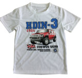 T-shirt de garçon de mode chez des vêtements des enfants avec l'impression Sqt-604