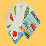 Plástico educacional personalizado Flashcards dos cartões dos cartões de jogo