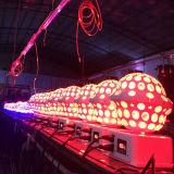Cristal novo do UFO que gira a luz da esfera do diodo emissor de luz