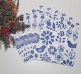 印刷されるカラーの1/4の折る環境に優しいカスタマイズされた紙ナプキン