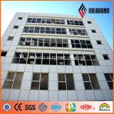 明るい銀PVDFのコーティングの建物のアルミニウム正面のパネル