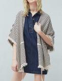 Frauen-Form Soem-reizvoller Strickjacke-Poncho mit Streifen