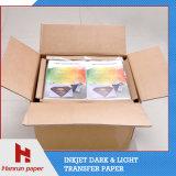 Qualität PU-Beschichtung-Schicht, einfacher Ausschnitt-dunkles Shirt-Umdruckpapier für Baumwollgewebe