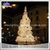 LEIDENE van het Decor van Kerstmis van de Roze 3D Openlucht het Licht van de Boom Bal van Kerstmis