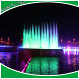 Waterfall를 가진 3D River Fountain