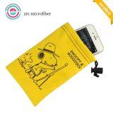 Doble velour de microfibra modificado para el teléfono celular de la bolsa