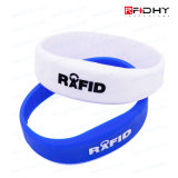 Etiqueta sin contacto de la venda de reloj de la pulsera del Wristband del silicón de RFID